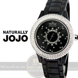 NATURALLY JOJO璀璨星空晶鑽陶瓷 腕錶-黑38mm JO96