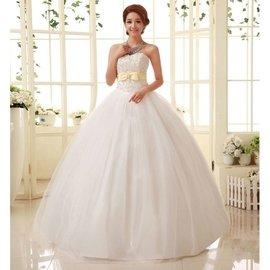 ~有大碼^!可訂做~19133629562齊地婚紗綁帶韓式修身hy 婚紗簡約宮廷復古新娘婚