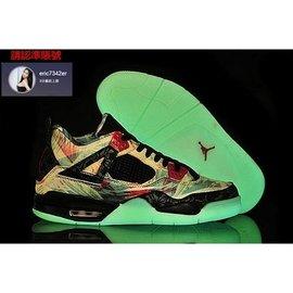 Nike Air Jordan 喬丹4代 夜光 楓葉  籃球鞋 男款 US8~13