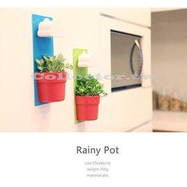 ~愛寶貝~日韓 雲朵花盆 療癒系 盆栽 下雨壁掛式辦公室植物 ^#本賣場開發票