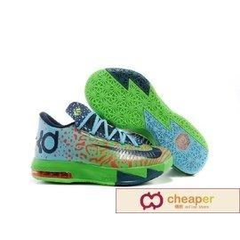 Nike KD 6 VI Liger 獅虎獸 配色 豹紋 虎紋 螢光 配色 螢光綠 綠 藍