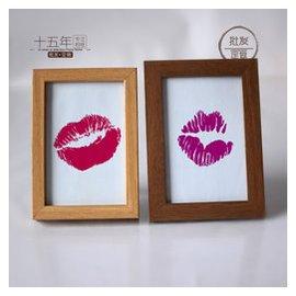 相框玻璃畫框亞克力咖啡色原木紋簡約宜家風6寸7寸薄款寬邊加厚細