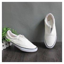 帆布鞋 男鞋 舒適休閒低幫 一腳穿上 懶人鞋 零碼 FE06