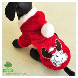 Petcircie錦和 寵物衣服 聖誕牛絨衣套頭衫 貓狗冬裝 寵愛