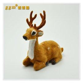 汽車車前擺飾一鹿平安仿真梅花鹿擺件工藝品玩偶純 仿毛制作