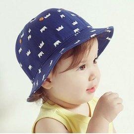 新品 兒童春夏秋天漁夫帽皇冠太陽帽男女寶寶遮陽帽嬰兒盆帽牛仔帽全
