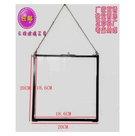 包郵可垂弔可掛正方形長方形復古可訂制玻璃相框 工藝品