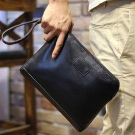 男士手包 手拿包男軟皮手抓包商務大夾包男包手機包信封包