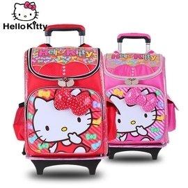 Hello Kitty兒童卡通書包小學生1~4~6年級減負拉桿書包女童可拆卸