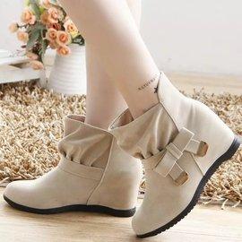 ~貝莉潮流~ 短靴女秋 內增高女鞋馬丁靴英倫風學生女靴子單靴雪靴裸靴