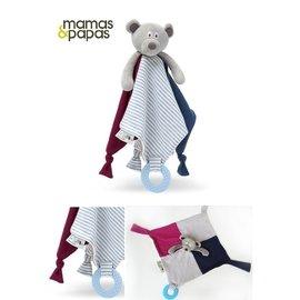 英國mamas  papas小熊安撫巾超柔料 超柔軟安撫巾 絨布手感 嬰兒玩具 安撫玩具