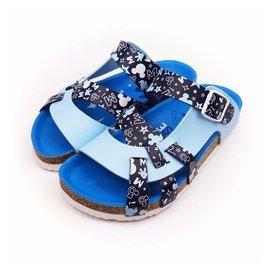 迪士尼米奇兒童氣墊拖鞋^(355200^)藍色19~20號~零碼 ^(299元^)
