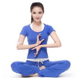 梵歌納瑜伽服三件套裝 女 春夏裝 愈加四季可穿 精棉廣場舞蹈顯瘦瑜珈服健身 褲 海藍色三件
