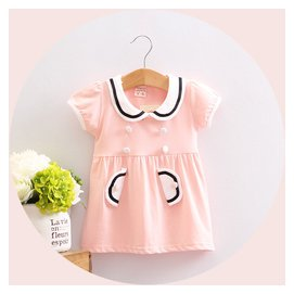 2016 寶寶夏裝 裙子 女童嬰兒童短袖公主連衣裙1~2~3歲