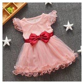 女童裙子短裙嬰兒蕾絲連衣裙0~1~2~3歲女寶寶夏裝潮小童