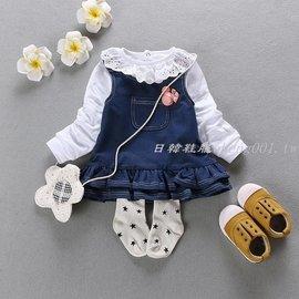 2017 新品嬰兒春裝牛仔裙 女童牛仔背帶裙0123歲女寶寶裙子