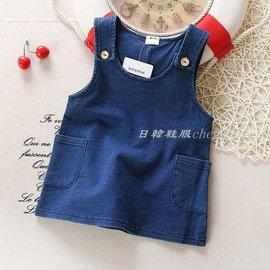 包郵 0~3歲女寶寶春裝牛仔裙女童牛仔背帶裙 嬰兒裙子
