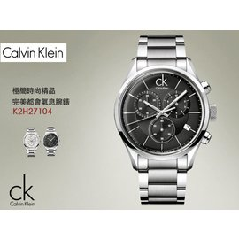 CK 清新簡約風格腕錶 Chronograph 42mm SV 瑞士製 Calvin Kl