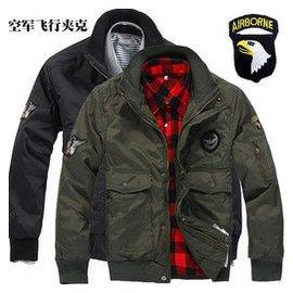 美軍空軍一號飛行夾克 軍裝101空降師空軍服 棉外套 戶外 男裝