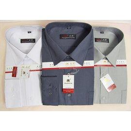 男裝加肥加大碼白色襯衫中老年含棉長袖襯衫中年夏裝老式深灰襯衣