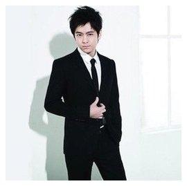 男士禮服出租修身新郎結婚伴郎年會禮服演出服黑色西服套裝禮儀
