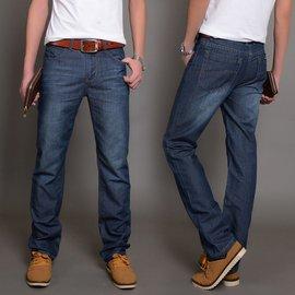厚款牛仔褲男直筒修身傑克瓊斯男士牛仔褲 潮長褲大碼