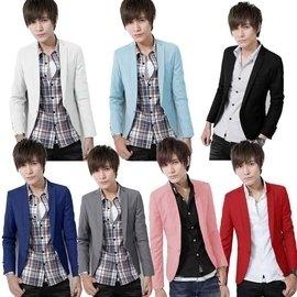 春款小西裝男 潮流男裝 商務西裝外套修身男士青年小西服