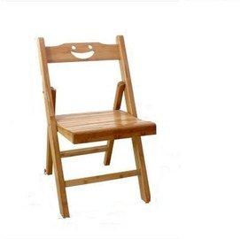 娜娜小屋楠竹折疊椅子餐椅大中小便攜式竹椅宜家實木釣魚椅兒童靠背椅洗衣~TW~