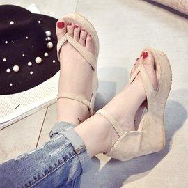 ~ 裝扮~ 夾趾坡跟高跟防水臺厚底鞋簡約 羅馬涼鞋尖頭高跟鞋厚底涼鞋厚底跟鞋楔形涼鞋楔形跟