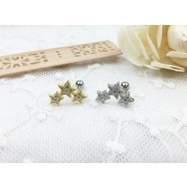 ~小靖的店~韓國連線 鋼針 鋯石皇冠 珍珠鎖針式 耳環 價單隻102元