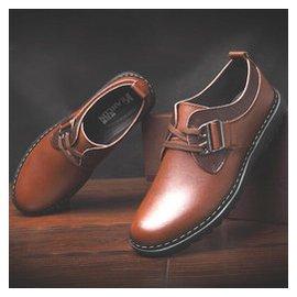 秋鼕真皮男鞋 正品男士 鞋45大碼牛皮鞋英倫風皮鞋 潮鞋