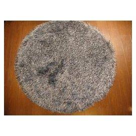 長毛金絲地毯圓形地墊電腦椅地墊8090100120150cm 可訂制 黑 銀灰混色 F45