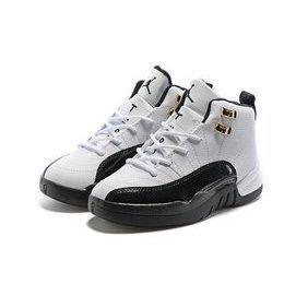 童鞋 AIR JORDAN 12 XII RETRO TAXI AJ12 十二代 白黑 金扣 計程