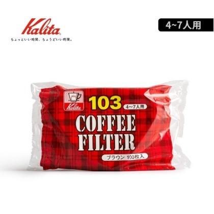 晴天咖啡  Kalita 103 無漂白濾紙 NK103 100入 103濾杯 咖啡濾紙
