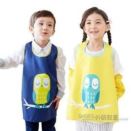 娜娜小屋韓國兒童畫畫衣罩衣寶寶反穿衣男女童無袖護衣防水衣小孩圍裙