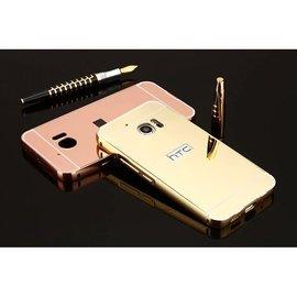 HTC ONE M10 HTC10 手機殼 金屬邊框 鏡面背蓋 防摔保護殼