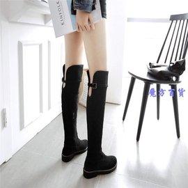娜娜小屋靴子 膝上靴 長靴女腿過膝靴平跟長筒靴高筒靴女鞋CBF2804