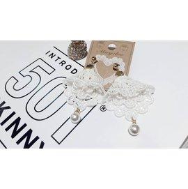 Source Boutique 正韓國空運 韓國連線 珍珠布蕾絲耳環 古典優美款式 氣質小