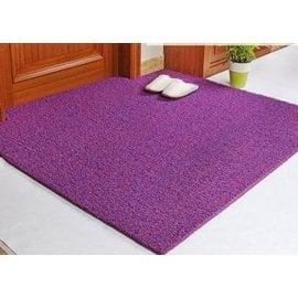 可剪裁防水地墊定做門墊 定制進門墊地毯 PVC絲圈防滑腳墊子 紫紅雙色 F41