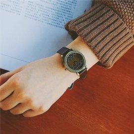森女系 日系復古手表裝飾百搭小清新文藝范皮表帶小巧女表
