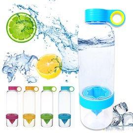 ~Q ~B2193 魔法纖果瓶~塑膠 SGS 檸檬杯 榨汁機 檸檬水壺 泡茶壺 果汁機 水