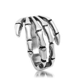 ~潮流前線~Jewelery新飾品 復古鑄造戒指指環 朋克風 骷髏手鈦鋼戒指 SA085