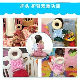 ^(曹媽^) 夏天 透氣款 寶寶頭部保護墊 學步護頭枕 嬰兒可愛翅膀防摔墊^(110元^)
