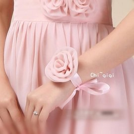 ~︵ 訂做︵~琪吉吉小舖 ~伴娘手腕花~結婚 婚禮 伴娘服 婚紗禮服 音樂會