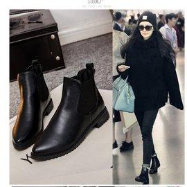 290 馬丁靴子女英倫風短靴女春秋單靴粗跟女靴及裸靴切爾西靴 女鞋