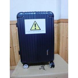 America Tiger 鏡面大型行李箱24吋  深藍色 硬殼 海關鎖
