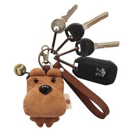 原創囧囧熊鑰匙扣三色補丁鑰匙掛件韓國可愛男女汽車鑰匙U盤扣