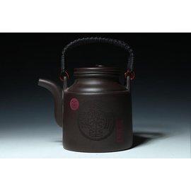 宜興正品 洋桶提梁大號紫砂壺 大容量茶壺內膽過濾送4個杯子