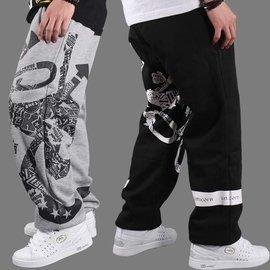 春夏情侶嘻哈街舞褲HIPHOP 滑板褲 褲寬松衛褲男潮款 版
