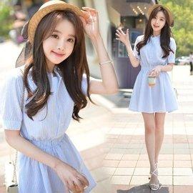 ^( 每周二統一下單  價 ^)棉麻修身連衣裙